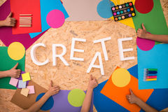 Create in capital letters Stock Images