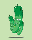 Create Cartoon cucumber Royalty Free Stock Photography