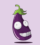 Create Cartoon Eggplant Stock Photography