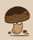 Create Cartoon mushrooms Stock Image