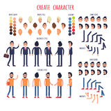 Create Character Set of Business and Casual Style Royalty Free Stock Images