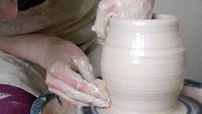 Create a clay vessel stock video footage