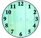 Create a Clock with wood backgrounds,  Isolated on white Stock Photos