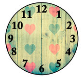 Create a Clock with wood backgrounds,  Isolated on white Royalty Free Stock Photos