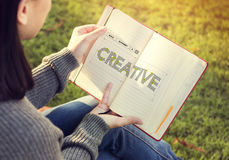 Create Creative Ideas Thinking Thoughts Concept Royalty Free Stock Photos