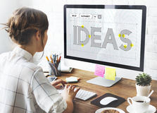 Create Creative Ideas Thinking Thoughts Concept Stock Image
