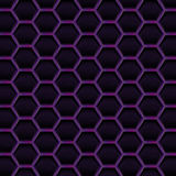 Create dark violet honeycomb background texture Stock Images