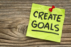 Create goals reminder Royalty Free Stock Photos