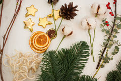 Create great winter compositions. Handmade Stock Photo