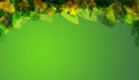 Create green color background. With clipping mask Stock Images