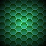 Create green color honeycomb background texture Royalty Free Stock Image