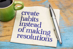Create habits instead of resolutions Stock Photos