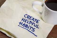 Create helpful habits Royalty Free Stock Photo