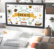 Create Ideas Aspiration Solution Inspiration Concept Royalty Free Stock Images