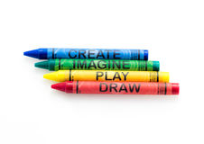 Create Imagine Play Draw Crayons Stock Image
