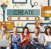 Create Innovation Imagination Development Ideas Concept.  Stock Image