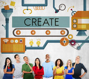 Create Innovation Imagination Development Ideas Concept royalty free stock images