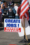 Create jobs sign at Tea Party. Stock Photos