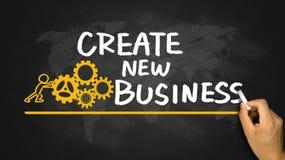 Create new business handwritten on blackboard Royalty Free Stock Photography
