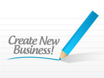 Create new business written on a white paper. Illustration design Stock Images