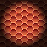 Create orange color honeycomb background texture Royalty Free Stock Images