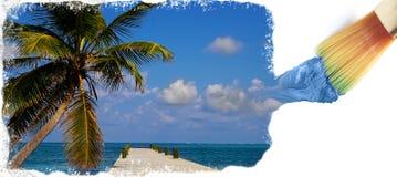 Create paradise Stock Image
