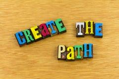 Create the path leadership. Leadership lead way teaching education helping create the path inspiration success teamwork letterpress royalty free stock photography