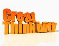 Create pensa il ivity Fotografia Stock
