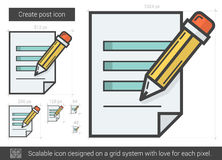 Create post line icon. Royalty Free Stock Photography
