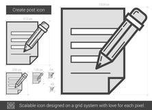 Create post line icon. Stock Image