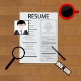 Create resume concept. Write resume application document, vector illustration Stock Photos