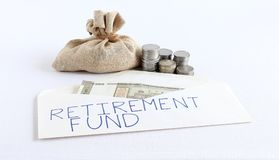 Create Retirement Fund from Savings Concept Royalty Free Stock Photos