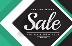Create sale banner design for your product promotion. Vector Royalty Free Stock Photos