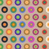 Create seamless folk flower pattern Stock Images