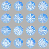 Create snowflake icons on button Stock Image