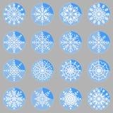 Create snowflake icons on button. Stock Stock Image