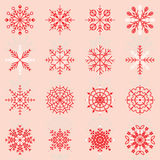 Create snowflake icons with reflect. Stock Royalty Free Stock Images