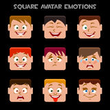 Create a square avatar emotions Stock Image
