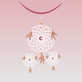 Create sweet dream catcher hanging element Royalty Free Stock Photography