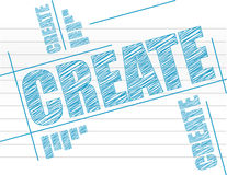 Create text on notepad. Illustration design graph Royalty Free Stock Photo