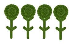 Create  tree form leaf. Stock Photos