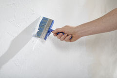 Create walls with paint and plaster Stock Photos