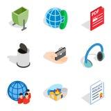 Create web icons set, isometric style Royalty Free Stock Images