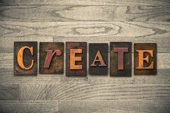 Create Wooden Letterpress Theme Stock Image