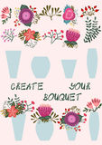 Create your bouquet Stock Photography