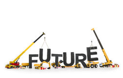 Create your future: Machines building word. stock photo