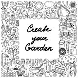 Create your Garden  Frame Royalty Free Stock Images