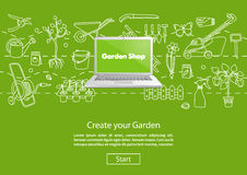 Create your Garden Green Website Template Stock Image