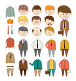 Create your ideal Businessman. Vector set of Royalty Free Stock Images