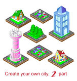 Create your own city. The second part . Vector illustration Stock Photography